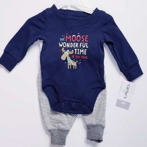 Carter's baby boys holiday outfit